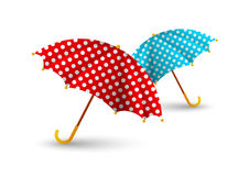 Two color umbrellas Royalty Free Stock Photos