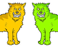 Two color wolfs Royalty Free Stock Image