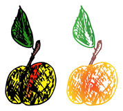 Two colored apple Stock Photography