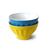 Two colored bowls Stock Photos