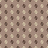 Two-colored coffee bean seamless pattern. Illustration of two-colored coffee grains. For any use Stock Photo