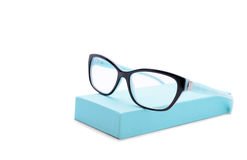 Two-colored eyeglasses isolated on white Stock Photo