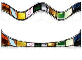 Two Colored Filmstrip. Detailed Illustration, Vector Royalty Free Stock Image