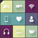 Two-colored flat icons Royalty Free Stock Photos