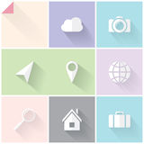 Two-colored flat icons Stock Photography