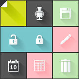 Two-colored flat icons Stock Photo