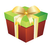 Two colored gift box Stock Photos