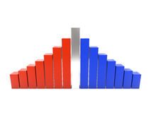 Two colored graphs Royalty Free Stock Photo