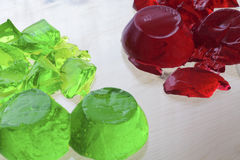 Two colored jelly. Selective focus Royalty Free Stock Photo