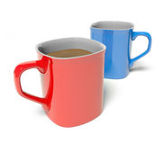 Two Colored Mug Royalty Free Stock Image