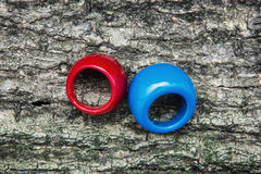 Two colored rings Royalty Free Stock Photo