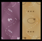 Two colored web banner. A collection of two web headers with abstract effects stock illustration