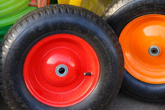 Two colored wheels Royalty Free Stock Photo