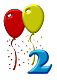 Two colorful balloons Royalty Free Stock Photography