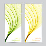 Two colorful banners with curved lines for Stock Photo