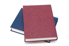 Two colorful blank books isolated on white Royalty Free Stock Photo