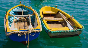 Two colorful boats Stock Photos