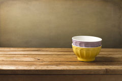 Two colorful bowls Stock Photography