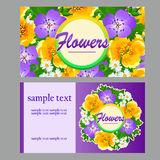 Two colorful cards for your business needs Royalty Free Stock Photos