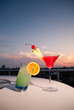 two colorful cocktails Stock Photo