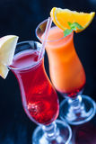 Two colorful cocktails royalty free stock image
