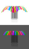 Two colorful creative barcode 3d effect Stock Photos