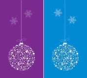 Two colorful decorative balls vector illustration