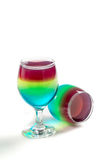 Two colorful jelly made of fruits Royalty Free Stock Image