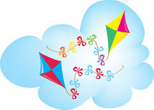 Two colorful kites Stock Photo