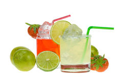 Two colorful margaritas Royalty Free Stock Photo