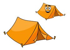 Two colorful orange tents Stock Image