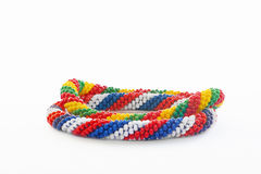 Two colorful plastic bracelets Stock Image