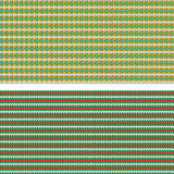 Two colorful seamless patterns, knitting imitation. Stock Images