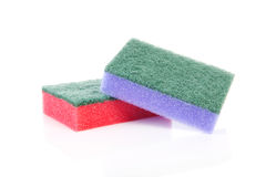 Two colorful sponge scourer Stock Photography