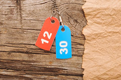 Two colorful tags Stock Photos