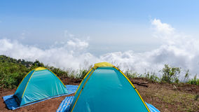 Two colorful tents Stock Photography