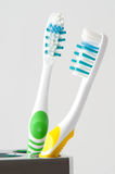 Two colorful toothbrush Stock Images