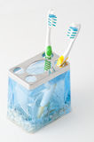 Two colorful toothbrush Stock Photo