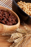 Two colors cereals with decoration Royalty Free Stock Photo