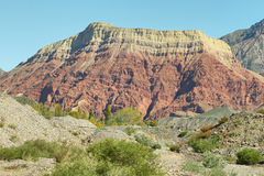 Two colors mountain near Huacalera, Argentina Royalty Free Stock Photos