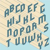 Two colors trendy 3d isometric abc. Two colors trendy 3d isometric vector typeface capitals Stock Photography
