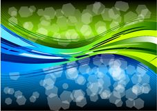 Two colors wave Royalty Free Stock Photos