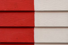 Two colors Wooden wall Stock Images