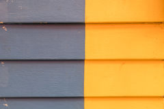 Two colors Wooden wall Stock Photos