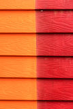Two colors Wooden wall Royalty Free Stock Images