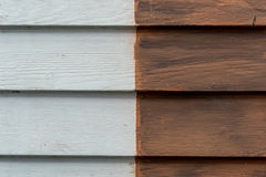 Two colors Wooden wall Royalty Free Stock Image