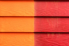 Two colors Wooden wall Royalty Free Stock Photos