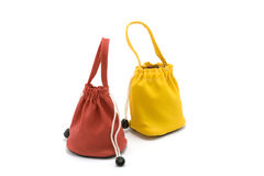 Two colour bags Royalty Free Stock Photos