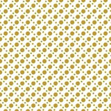 Gold on white two different sized polka dots in lines seamless repeat pattern background. Two colour two different sized polka dots in lines seamless repeat Royalty Free Stock Photography