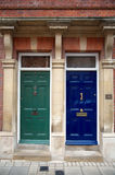 Two colour doors,building or home Stock Photography